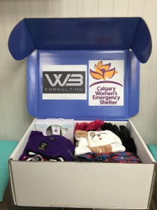 WB is collecting donations for the Calgary Women's Emergency Shelter until December 18. Donations can be made downtown or in the southwest.